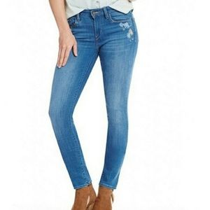 Levi's Floral Mid-rise skinny Jeans
